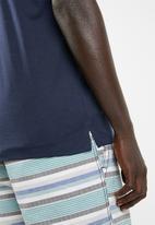 STYLE REPUBLIC - Golfer short sleeve tee - navy