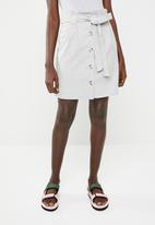 c(inch) - Paperbag mini skirt - grey