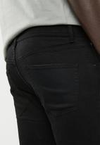 Superbalist - Super skinny jeans cropped knee rip raw hem - black