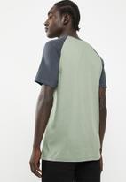 Superbalist - Raglan short sleeve crew neck tee - charcoal & green
