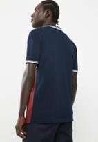 Superbalist - Pique short sleeve slim fit blocked polo - multi