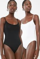 Superbalist - Cami bodysuit 2 pack - white & black