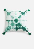 Sixth Floor - Cosmia cushion cover - green & white