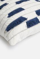 Sixth Floor - Veronica cushion cover - blue & natural