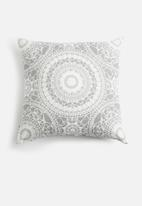 Sixth Floor - Moroccan tile cushion cover - grey & white