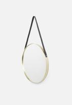Present Time - Balanced mirror - round gold rim
