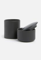 Urchin Art - Storage canister - matte black