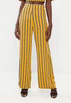 STYLE REPUBLIC - Wide leg pants - mustard & black