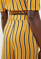 STYLE REPUBLIC - Wide leg pants - mustard & black