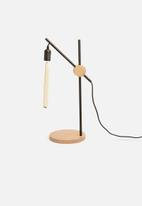 Emerging Creatives - Crane table lamp - black/natural