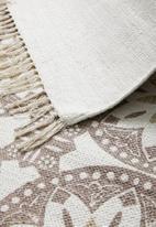 Sixth Floor - Essence printed rug - dusty pink