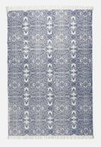 Sixth Floor - Topaz printed rug - blue