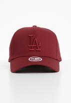 New Era - League essential aframe womens Los Angeles Dodgers - burgundy