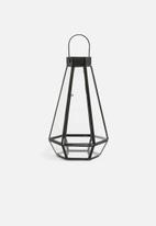 Sixth Floor - Harper lantern - black