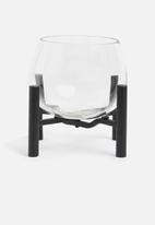 Sixth Floor - Ivy glass planter - black