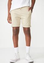 Cotton On - Washed chino short - beige