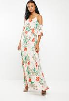 G Couture - Strappy maxi with top overlay - multi