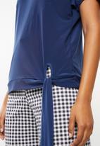 edit - Side tie top - blue