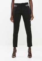 edit - Slim leg pants - black