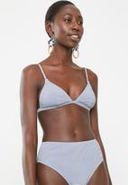 Billabong  - Sandy stripe retro bikini top - blue