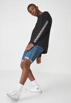 Cotton On - Drop shoulder long sleeve tee - black