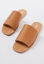 Cotton On - Cleo minimal slide - tan