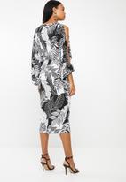 RUFF TUNG - Twist dress - black & white