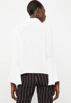 Superbalist - Bell sleeve shirt - cream