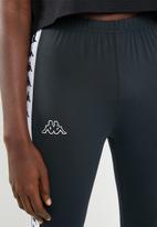 KAPPA - Banda leggings - black and white