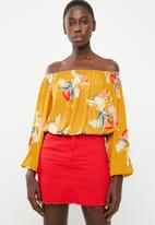 Superbalist - Boobtube blouson top - yellow