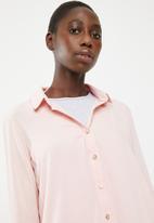 Superbalist - Bell sleeve shirt - pink