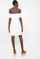 Rip Curl - Sea jewel off shoulder dress - white