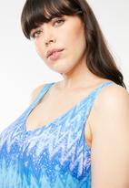 Jacqueline Plus - Zig-zag underwire one piece - blue