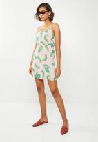 Vero Moda - Kate cami dress - pink & green
