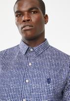 Pringle - Beacher short sleeve styled shirt - blue