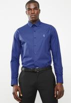 Pringle of Scotland - Naill styled shirt dark - blue