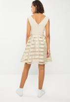 ONLY - Organza fit and flare dress - beige