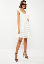 ONLY - Organza fit and flare dress - cream