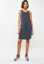 ONLY - May boxy dress - navy & white