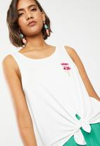 ONLY - Knot popsicle top - white
