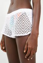 KANGOL - Crochet cover-up shorts - white