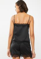 ONLY - Lace detail cami - black