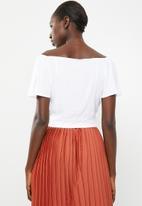 Superbalist - Tie front feminine shirt - white