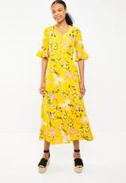 STYLE REPUBLIC - Ladder lace maxi dress - yellow