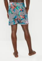 STYLE REPUBLIC - Floral stripe swimshorts - multi