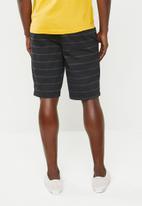 STYLE REPUBLIC - Alfred stripe shorts - black & khaki