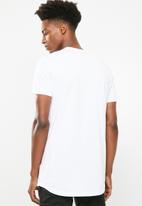 Superbalist - Curved hem longline tee - white