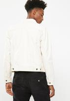 Superbalist - Colour Slim Denim Trucker Jacket - ecru