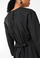 STYLE REPUBLIC - Drawcord detail dress - black