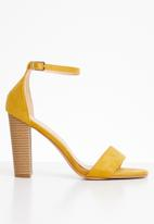Superbalist - Suri ankle strap heel - yellow